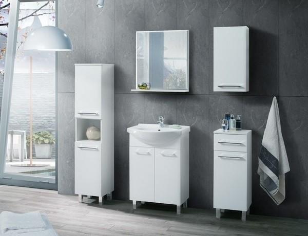 Mobile bagno di stile 6 pezzi bianco – Laura
