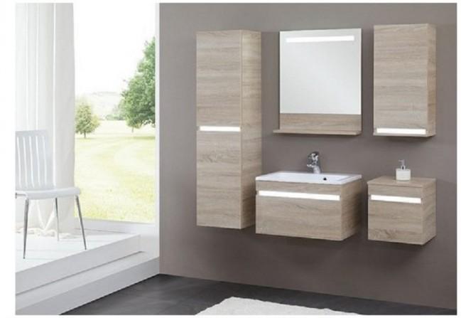 Mobile per bagno (6 pezzi) - Color rovere sonoma