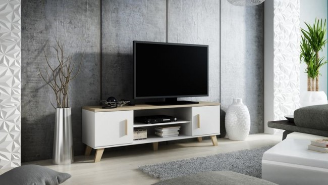 Ripiano Porta Tv.Porta Tv Moderno Con 2 Ante E 1 Ripiano 160