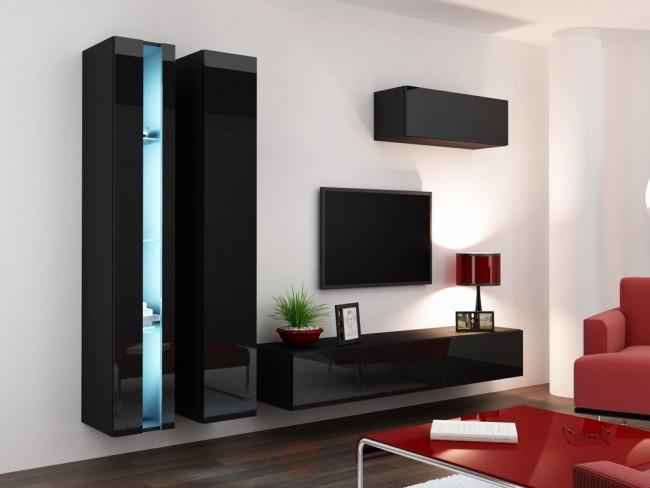 Mobile Soggiorno Nero Lucido.Combinazioni Di Mobili Soggiorno 11 Colori Viral New I