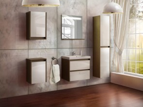 Bagno completo con lavabo (6 pezzi) – Atos