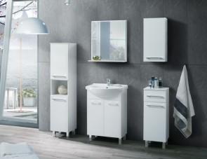 Mobile bagno di stile, bianco (6 pezzi) – Laura