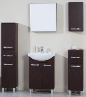 Mobili moderni per bagno, noce  (6 pezzi) - Tosca 75