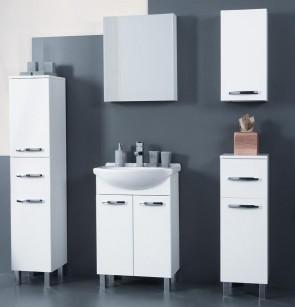 Bagno moderno, bianco (6 pezzi) – Tosca 55