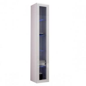 Armadio pensile moderno lucido (col vetro) per soggiorno