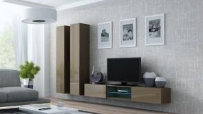 mobili soggiorno chic - Latte opaco/latte lucido