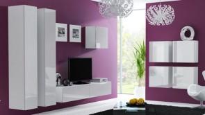 set completo di mobili soggiorno moderni - Bianco opaco /bianco lucido