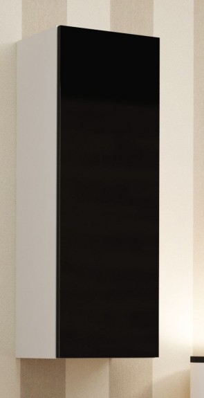 Bianco opaco / nero lucido